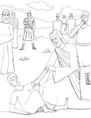 Jesus Healing a Demon-Possessed Boy