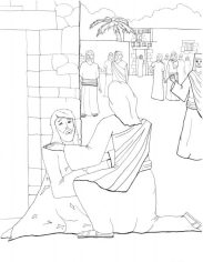 Jesus Healing a Leaper